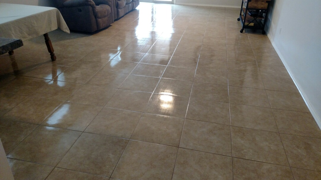 Cleaned &  sealed tile & grout for a new PANDA family in Apache Junction, Az 85120.