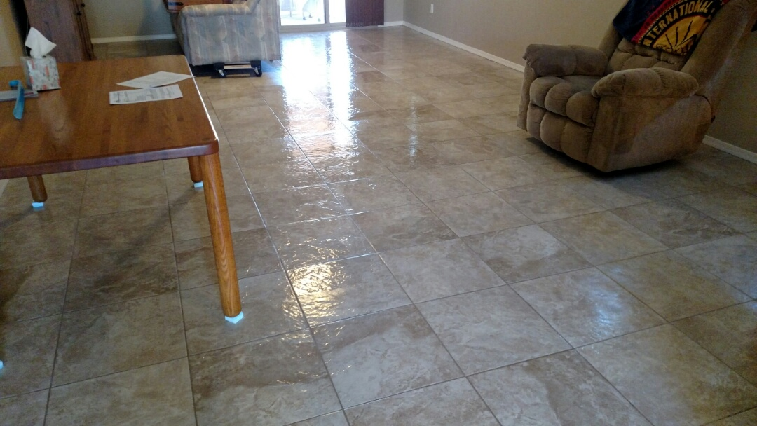 Cleaned & sealed tile & grout for a new PANDA family in Apache Junction, AZ, 85120.