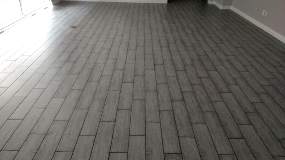 Gilbert, AZ - Cleaned tile in a rental house for a regular PANDA customer in Gilbert, AZ 85296.