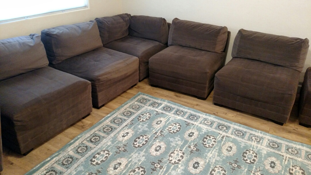Gilbert, AZ - Clean upholstery and an area rug for a new PANDA family in Lyons Gate, Gilbert, AZ 85295.