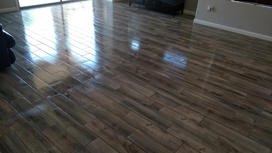 Gilbert, AZ - Cleaned & sealed tile & grout for a new PANDA customer in Seville, Gilbert, AZ, 85298.