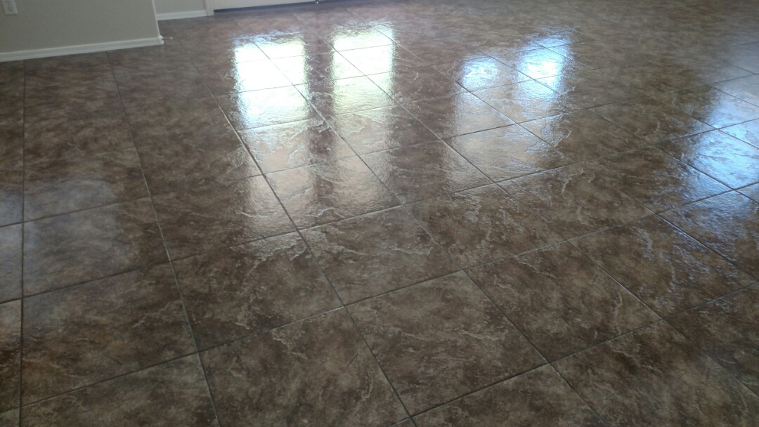 Cleaned carpet, tile & grout and sealed grout for a new PANDA family in Chandler, AZ 85286.