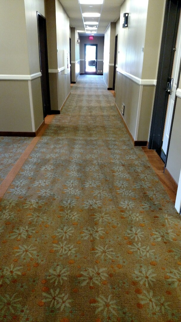 Gilbert, AZ - Cleaned commercial carpet 120 rooms & all hallways, for a new PANDA customer, DoubleTree by Hilton in Gilbert, in Gilbert, AZ 85295.