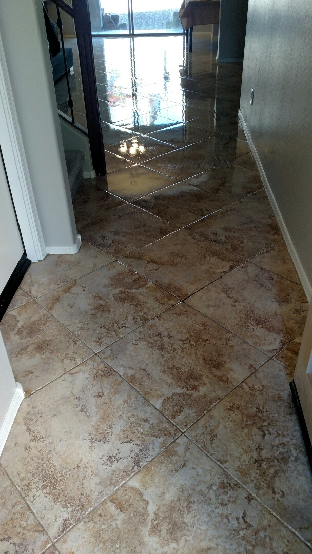 Cleaned & sealed tile & grout and cleaned upholstery for a new PANDA family in Ahwatukee, AZ 85045.