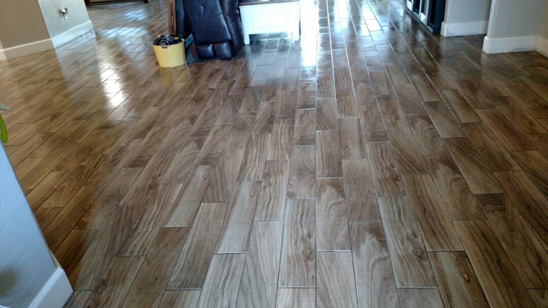 Gilbert, AZ - Cleaned & sealed tile & grout for a regular PANDA family in Gilbert, AZ 85296.
