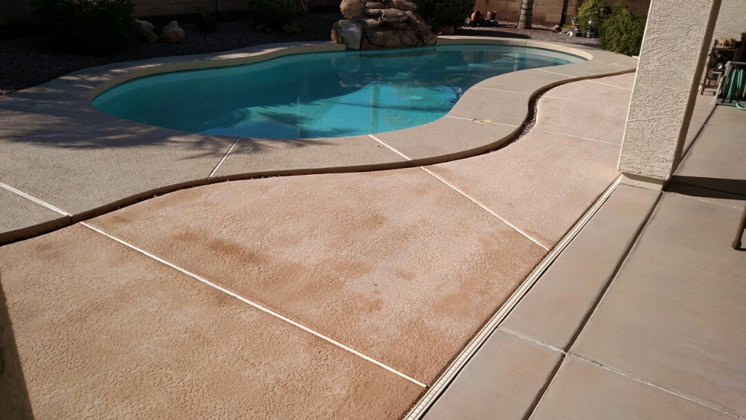Gilbert, AZ - Cleaned pool decking for a regular PANDA customer in Ashley Heights, Gilbert, AZ 85295.