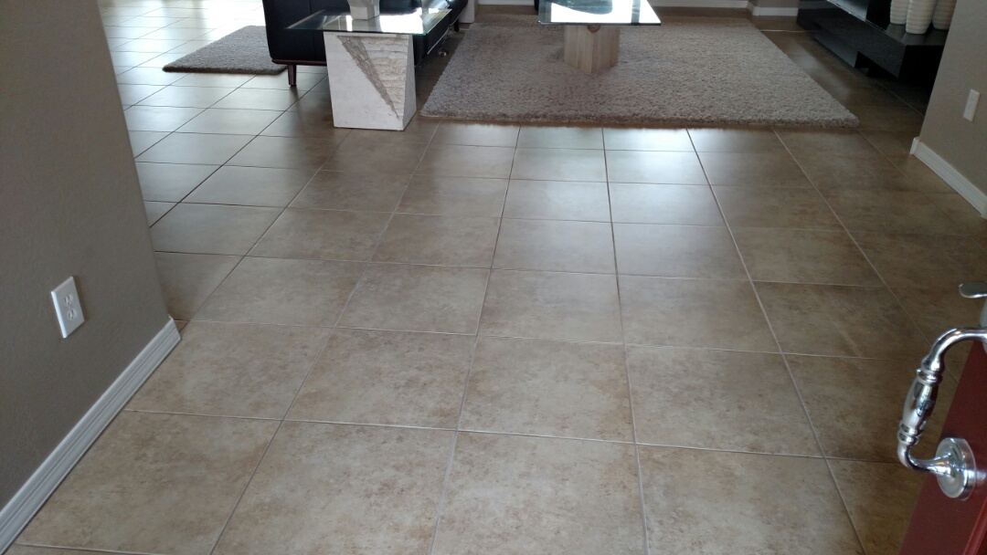 Cleaned carpet, tile & grout, and area rugs for a regular PANDA Family in Anthem, Florence, AZ 85132.