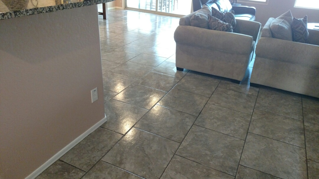 Cleaned carpet & tile, and sealed grout for a new PANDA family in Anthem, Florence, AZ 85132.