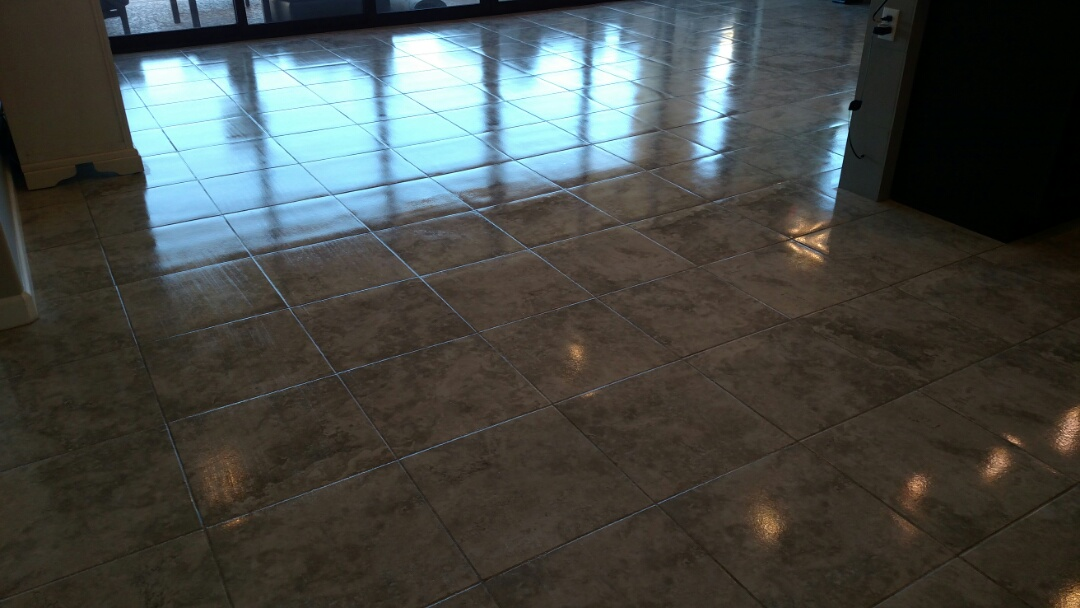 Cleaned & sealed tile & grout for a new PANDA family in Mesa, AZ 85207.