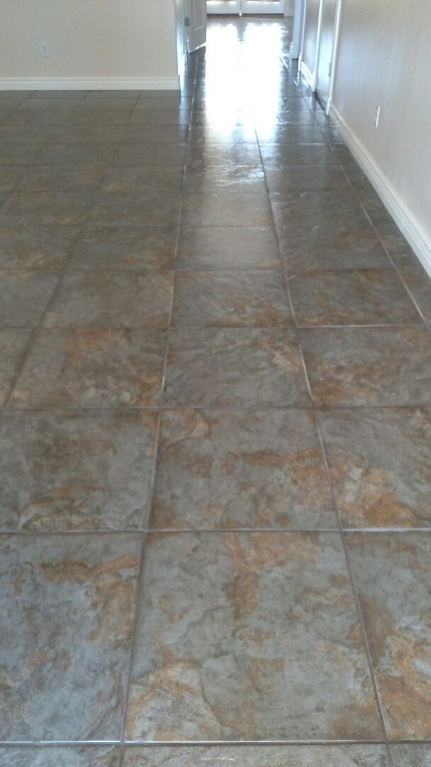 Cleaned carpet, tile & grout, and sealed grout, for a new PANDA family in San Tan Valley, AZ 85143.
