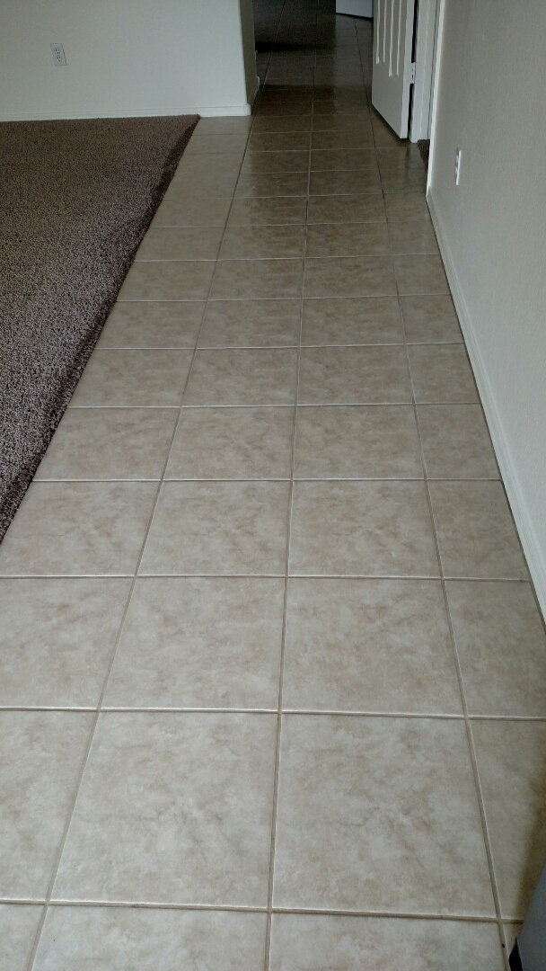 Cleaned carpet, tile & grout for a new PANDA family in Surprise, AZ 85379.