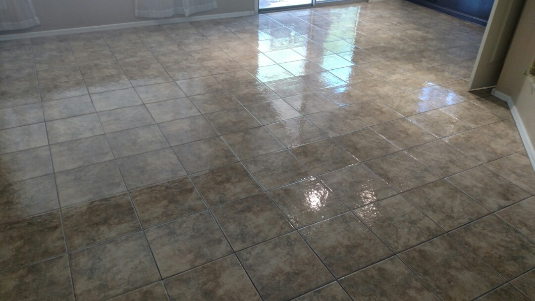 Cleaned & sealed tile & grout for a new PANDA family in Ashley Heights, Gilbert, AZ 85295.