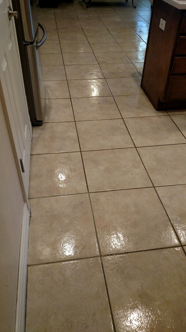 Cleaned carpet, tile and grout & sealed grout for a new PANDA family in Mesa, AZ 85212.