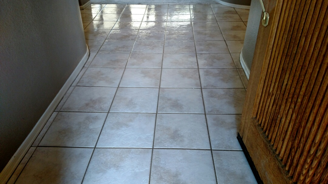 Cleaned tile & grout and sealed grout for a new PANDA family in Mesa, AZ 85204.