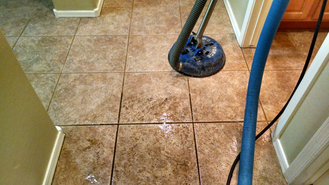 Chandler, AZ - Completed cleaning tile and grout for a new PANDA family in Chandler, AZ 85249.