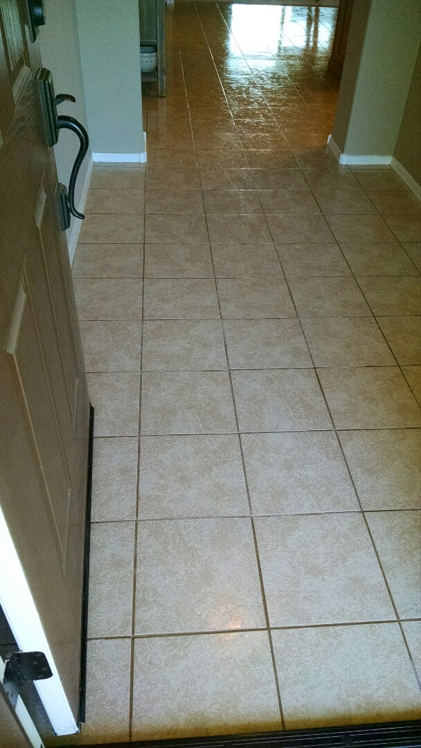 Cleaned carpet, tile & grout, and sealed grout, for a new PANDA family in Florence, AZ 85132.