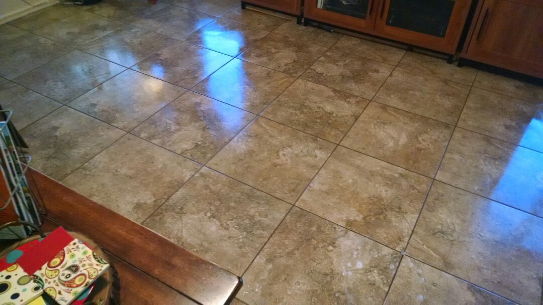 Cleaned tile and grout for a new PANDA family in Chandler AZ 85286.