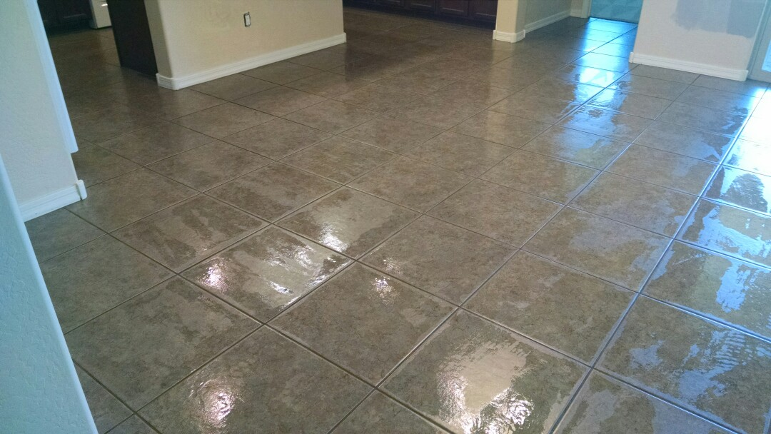 Mesa, AZ - Cleaned carpet & tile, and sealed grout for a new PANDA family in EastMark, Mesa AZ 85212.