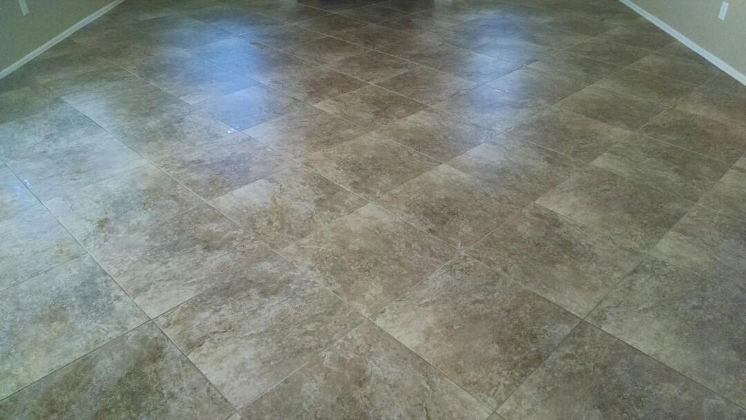 Gilbert, AZ - Cleaned tile & grout for a new PANDA customer in Gilbert AZ 85233.