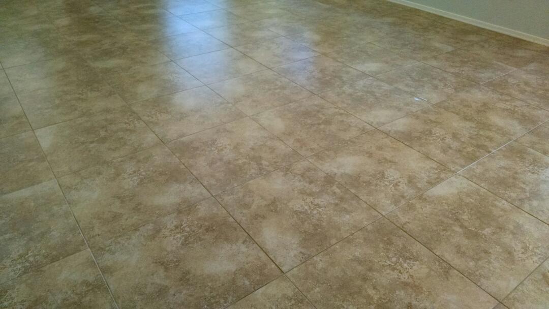 Gilbert, AZ - Cleaned tile and grout for a new PANDA family in Gilbert AZ 85298.