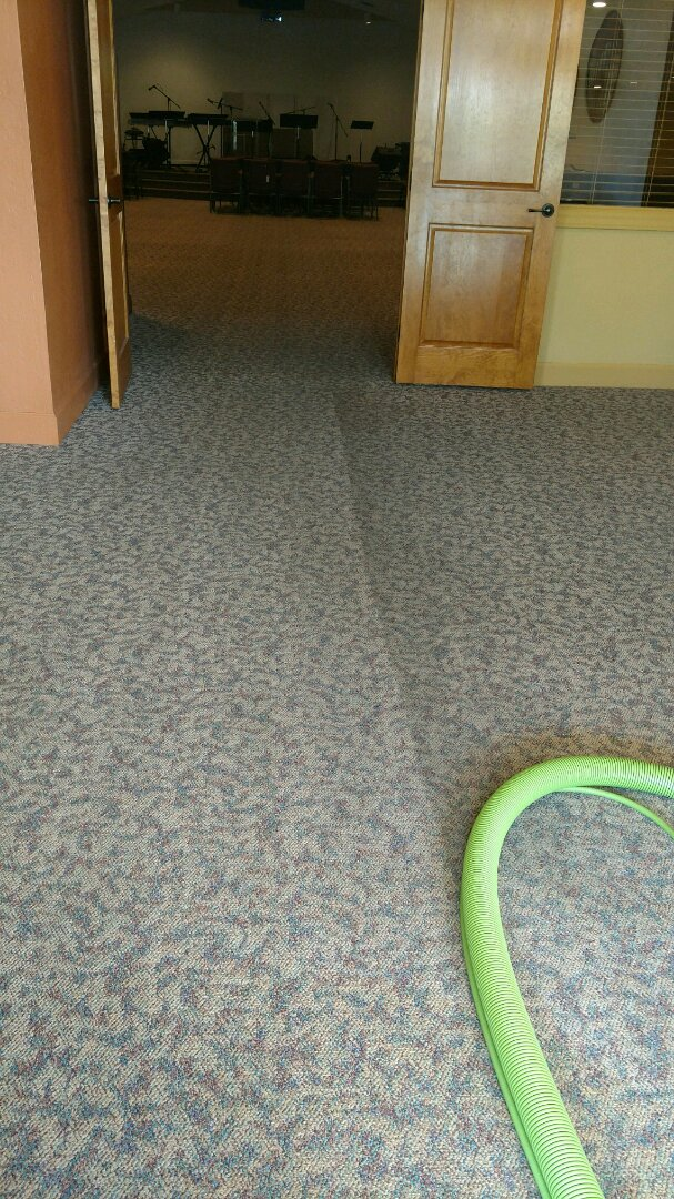 Chandler, AZ - Cleaned commercial carpet for a regular PANDA customer in Chandler AZ 85225.