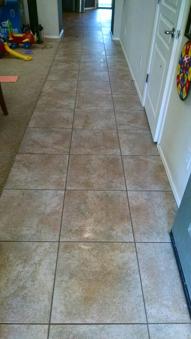 Cleaned tile and grout for a new PANDA family in Power Ranch Gilbert AZ 85297.