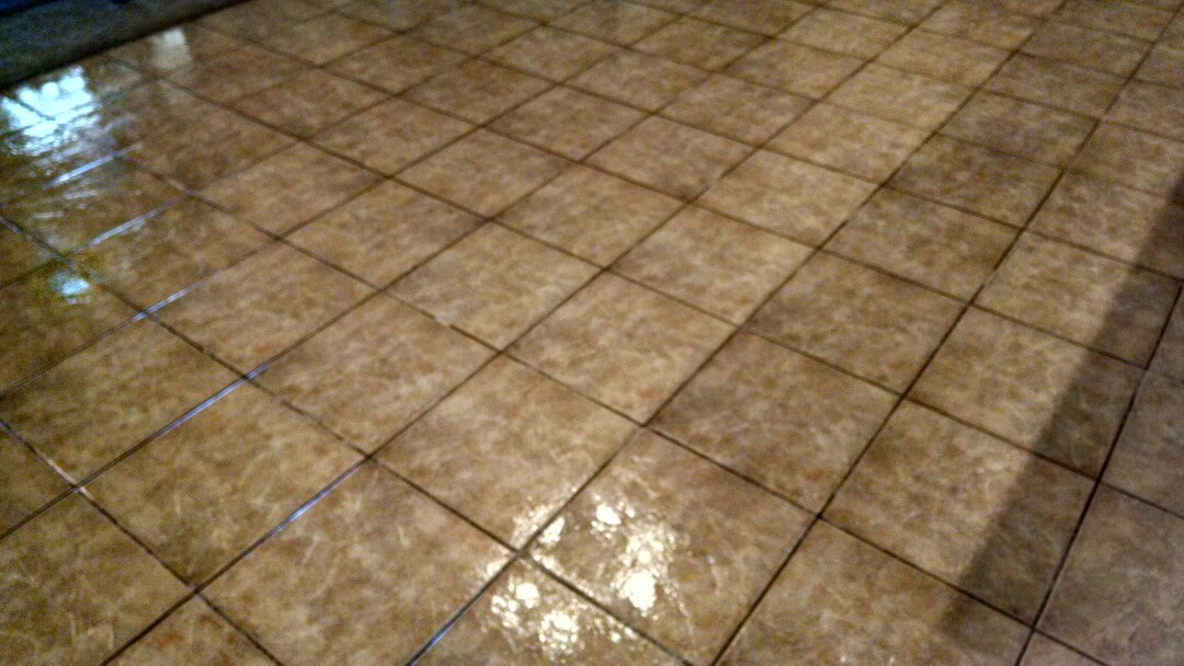 Cleaned & sealed tile and grout for a new PANDA family in San Tan Valley AZ 85140.