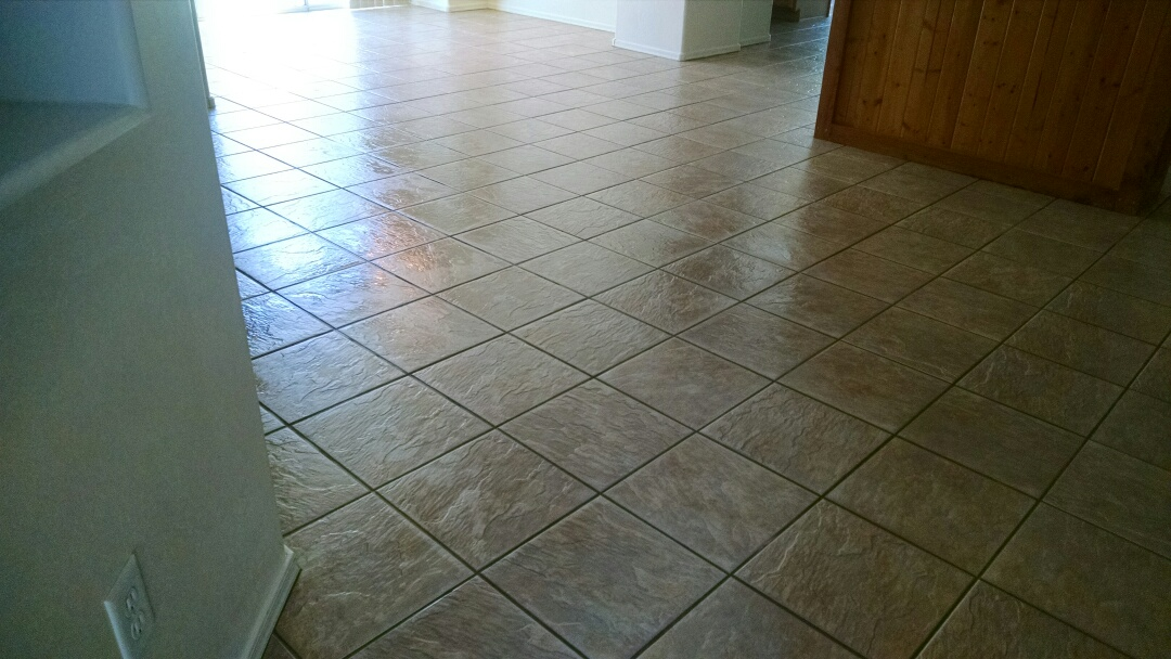 Gilbert, AZ - Cleaned carpet and tile and grout, and extracted dog urine for a new PANDA family in The Gardens, Gilbert AZ 85296