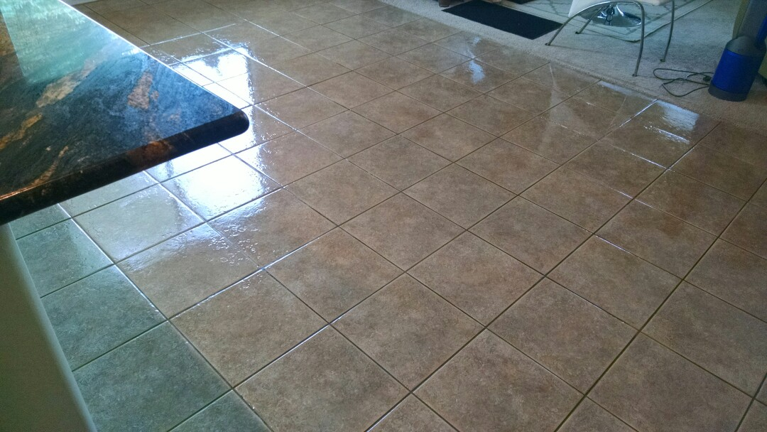 Gilbert, AZ - Cleaned and sealed tile for a new PANDA family in Power Ranch, Gilbert AZ 85297.