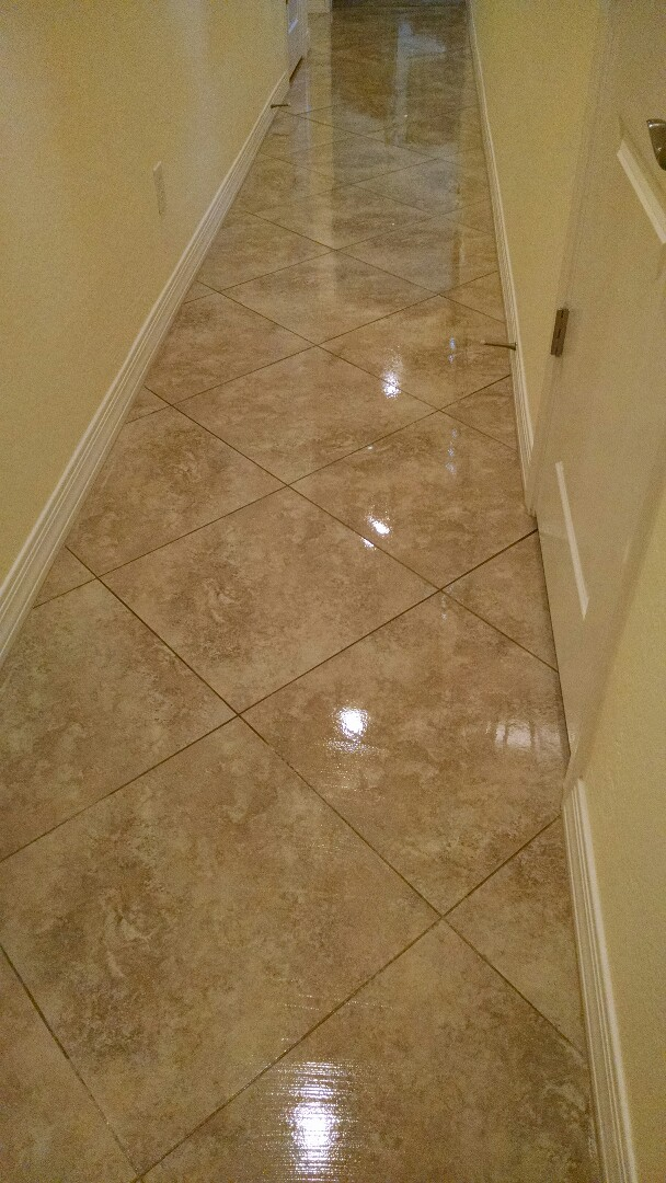 Cleaned carpet, upholstery, tile and grout & sealed grout for a new PANDA family in Queen Creek AZ 85142.