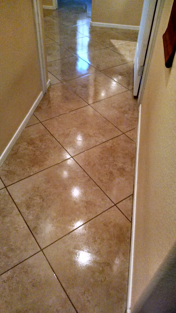 Cleaned & sealed tile and grout for a new PANDA customer in Chandler AZ 85226.