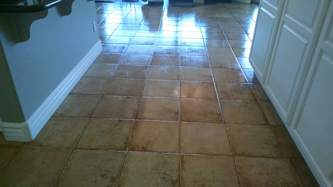 Chandler, AZ - Cleaned & sealed tile and grout for a new PANDA family in Chandler AZ 85248.