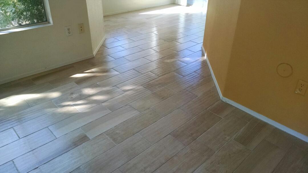 Cleaned & sealed tile and grout for a regular PANDA customer in Gilbert AZ 85233.