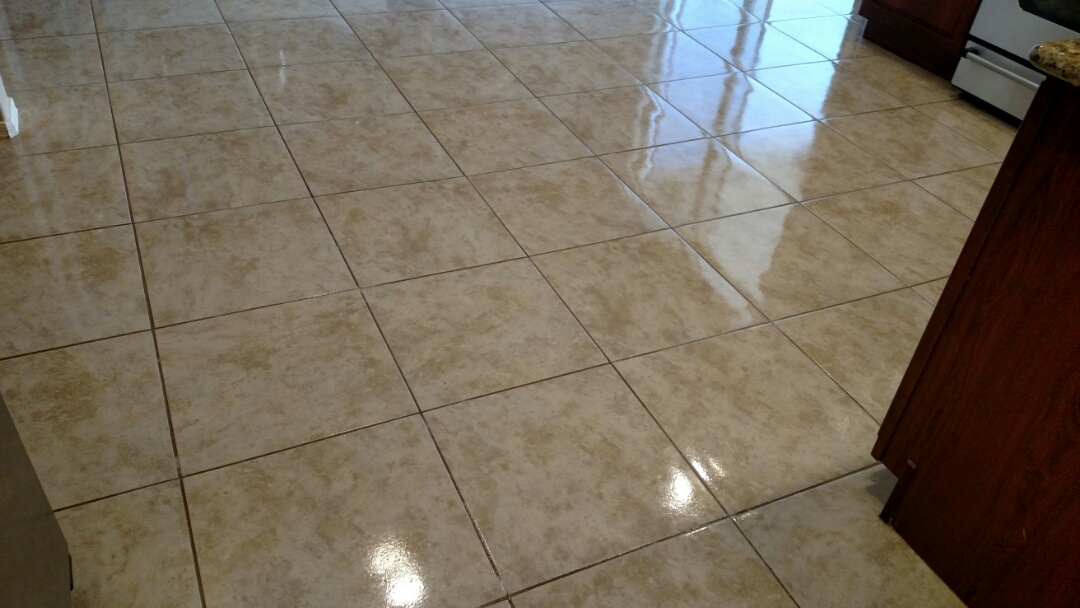 Cleaned & sealed tile and grout for a new PANDA family in Queen Creek AZ 85142.