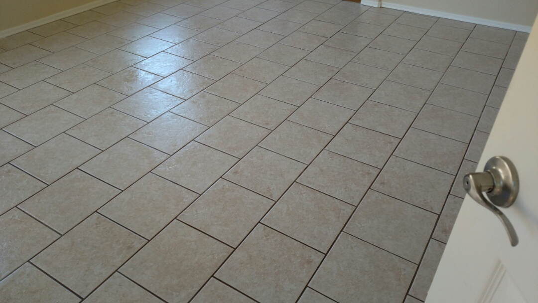 Gilbert, AZ - Cleaned tile and grout for a new PANDA customer in Gilbert AZ 85233.
