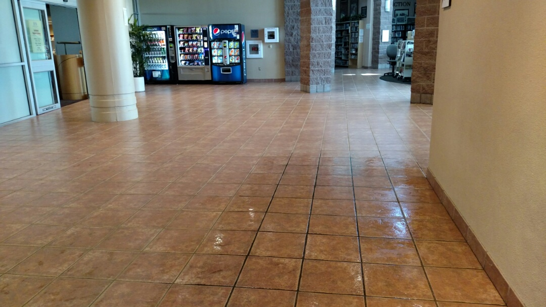 Gilbert, AZ - Cleaned & sealed 4250sf of tile & grout for a will known Gilbert-based commerical building, in Gilbert AZ.