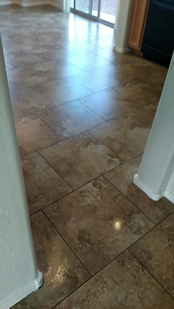 Cleaned tile and grout for a new PANDA customer in Gilbert AZ 85234.
