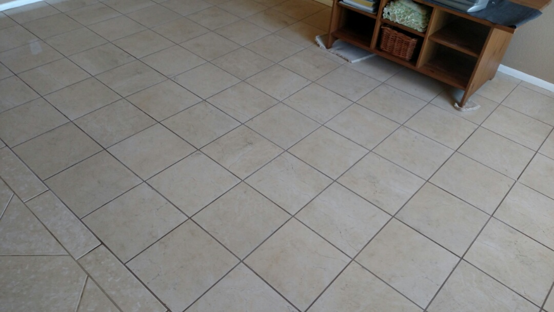 Cleaned & sealed tile and grout for a new PANDA family in Mesa AZ 85201.