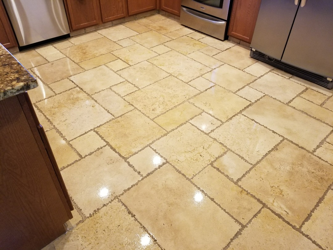 Cleaned & sealed tile & grout for a new PANDA family in Power Ranch, Gilbert, AZ 85297.