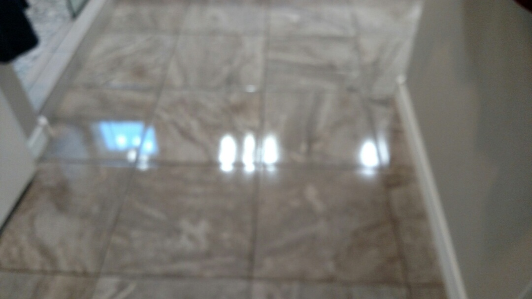 Cleaned & sealed tile & grout for a new PANDA family in Florence AZ 85132.