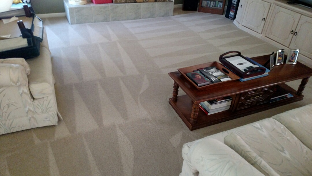 Gilbert, AZ - Cleaned carpet and tile and grout for a new panda customer in Gilbert AZ 85296