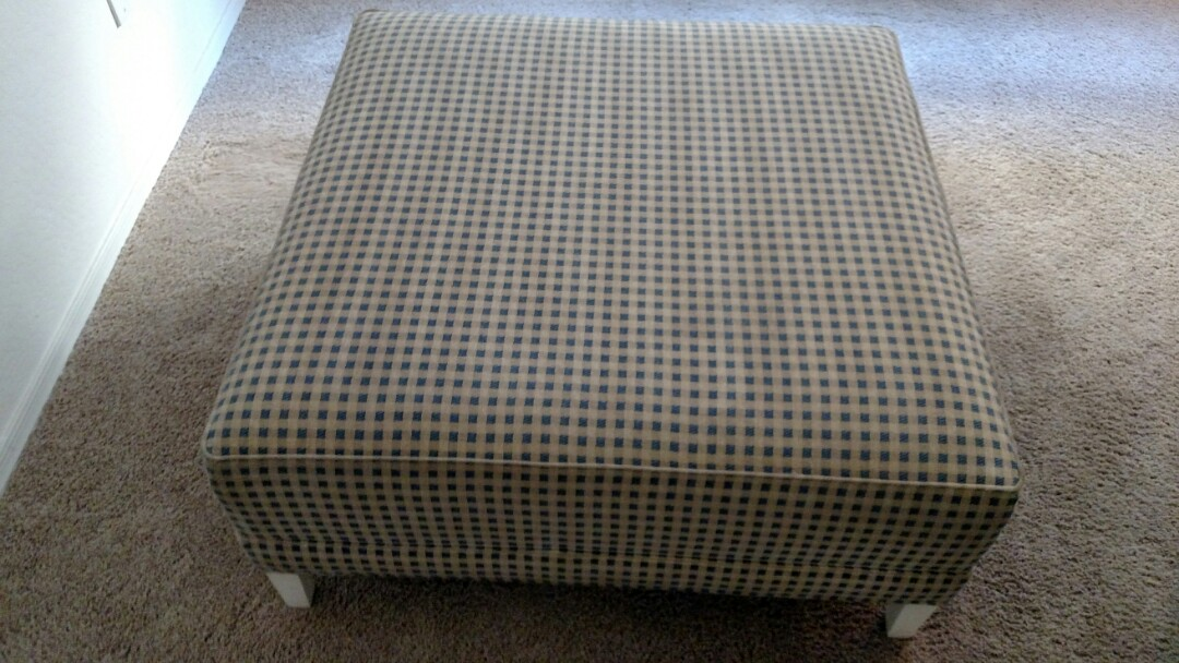 Cleaned carpet and an ottoman for a new PANDA customer in Gilbert AZ 85296.