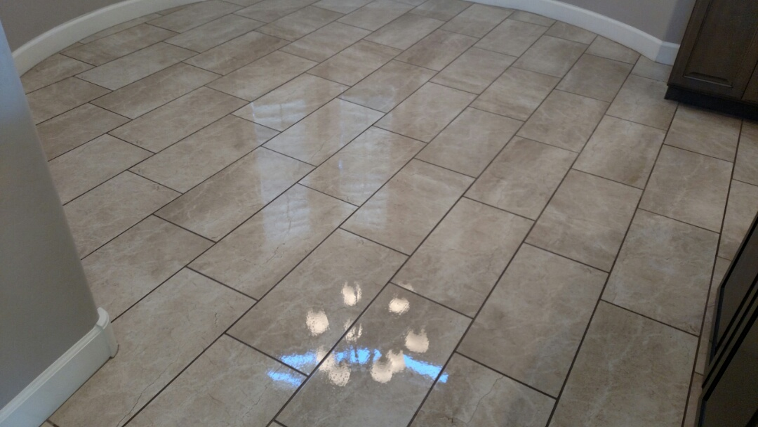 Cleaned and sealed tile and grout for a regular PANDA Family in Gilbert, AZ 85298.