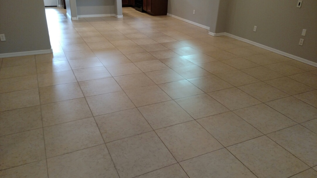 Gilbert, AZ - Cleaned tile and grout for a new PANDA family in Lyons Gate, Gilbert, 85295.