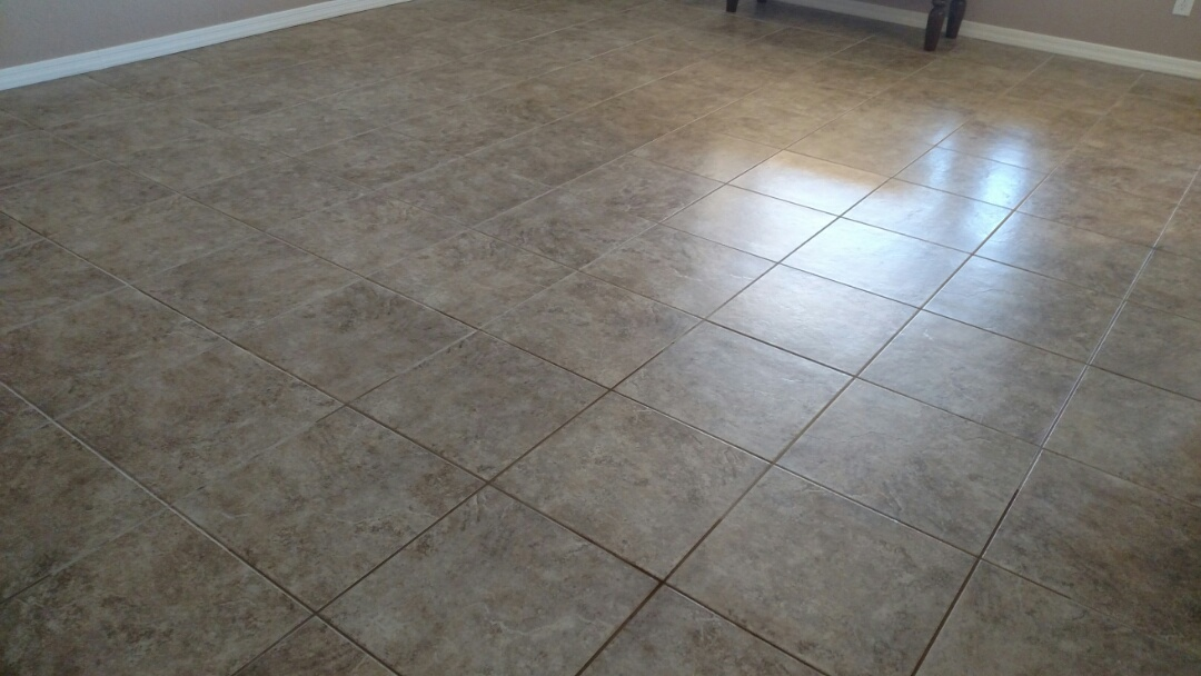 Cleaned tile & grout for a new PANDA family in San Tan Valley, AZ 85143.