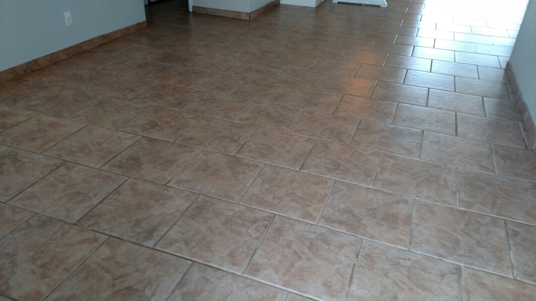 Cleaned tile and grout for a new PANDA family in Mesa, AZ 85205.