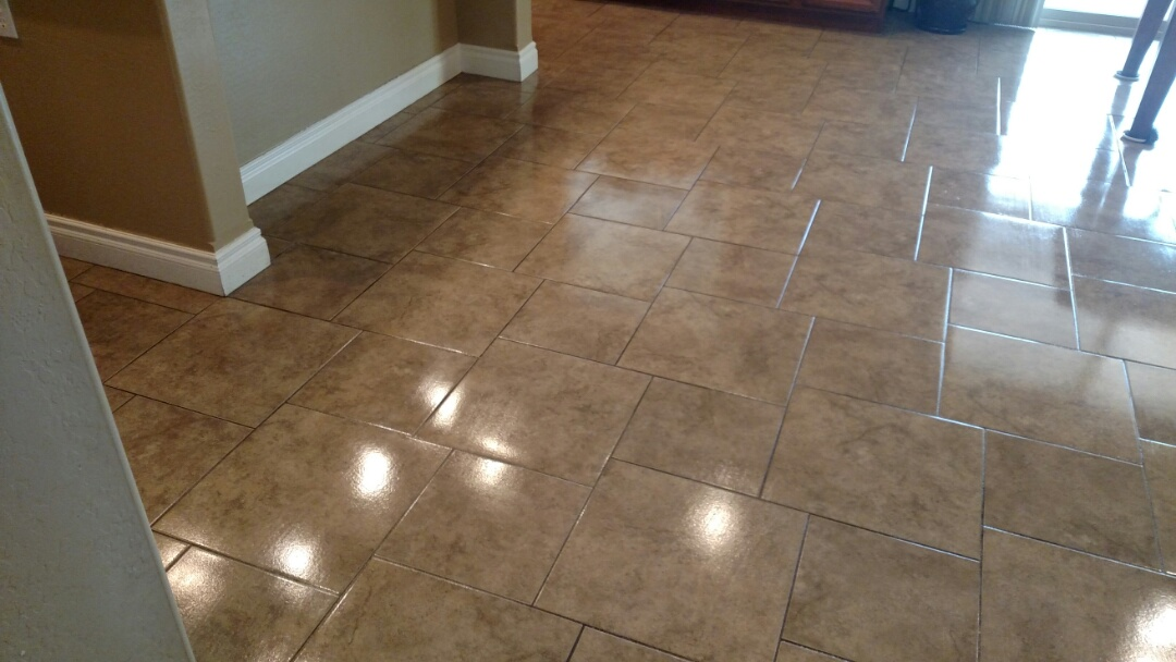 Gilbert, AZ - Cleaned and sealed tile and grout for a new PANDA family in Gilbert, AZ 85297.