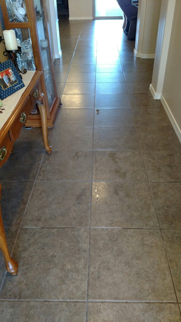 Cleaned carpet and tile for a regular PANDA family and Eastmark, Mesa, AZ 85212.