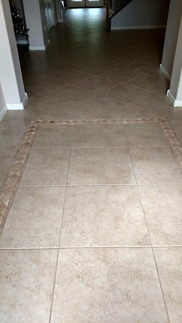Cleaned tile and grout for a new PANDA family in Sossaman Estates, Queen Creek, AZ 85142.