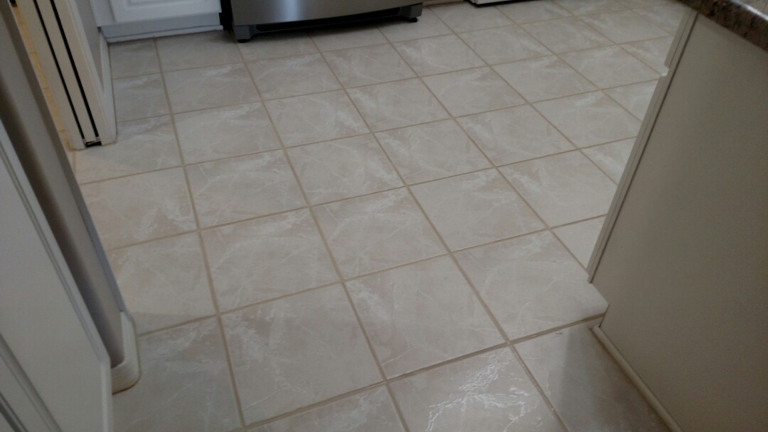 Cleaned and color sealed tile for a new PANDA family in Mesa, AZ 85215.